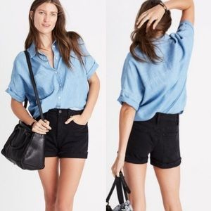 Madewell Indigo Courier Shirt in Kieran Wash Sz S